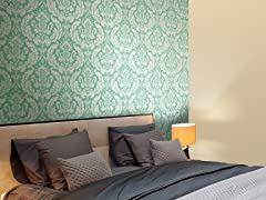 Damask Heritage Teal Tiles