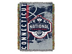 UConn NCAA Champs Tapestry Throw