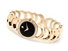 Ladies Rondiro Diamond Gold Tone Watch