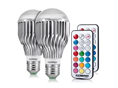 10W Color Changing Light Bulbs (2-Pack)