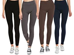 Set of 4 Fleece Lined Leggings