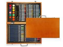 Xonex Cherry Wood Art Set - 88 pc. Set