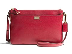 Madison New Leather E/W Swingpack, Red