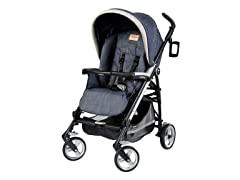 Denim Chambray Pliko Four Stroller