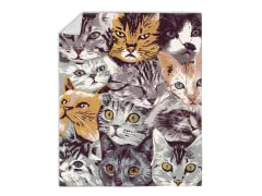 """Cat Collage"" Blanket"