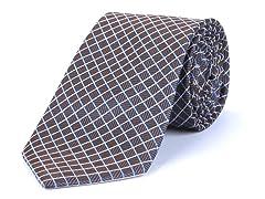 Silk Tie, Grey Multi