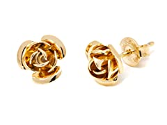 18K GP Gold Rose Stud
