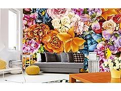 Vintage Flowers Wall Mural
