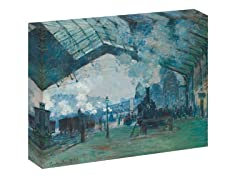 Monet Arrival  of the Normandy Train, Gare Saint-Laza