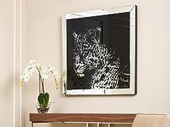 Crystal Cheetah Wall Mirror