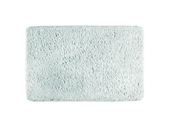 "Interdesign Sherpa Microfiber Bathroom Accent Rug - 34"" X 21"", Light Aqua"