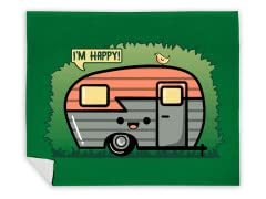 """Happy Camper"" Blanket"