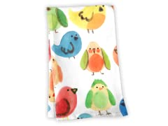"""Rainbow Birds"" Tea Towel"