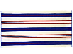 450GSM 36x70 Red & Navy Stripe Towel