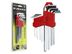 9 piece Long Hex Allen Wrench Set
