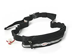 Slim Pocket Race Number Belt - Black