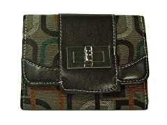 Vecelli Italy Tri-Fold Wallet, Brown