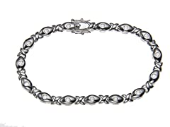 18kt White Gold Plated XOXO Bracelet