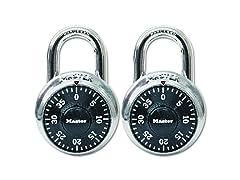 2-Pack Master Lock 1500T Combination-Alike Locks