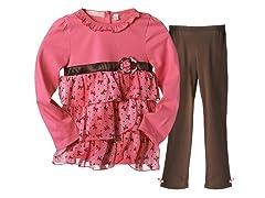 Tunic & Leggings Set - Hot Pink (4-6X)