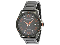 Drive Black Stainless Steel Mens Watch