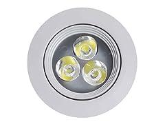 Round Brass-LED Pod Light