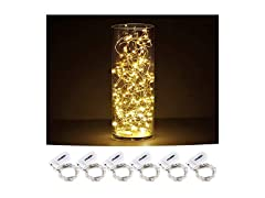 CYLAPEX Pack of 6 LED Starry String Lights