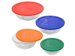 8pc Mixing Bowl Set w/ Color Lids