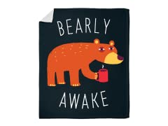 """Bearly Awake"" Blanket"