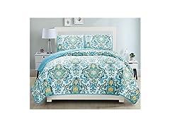 Grand Linen Reversible Bedspread Set