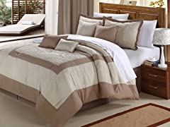 Seashell 8Pc Set-Taupe-2 Sizes