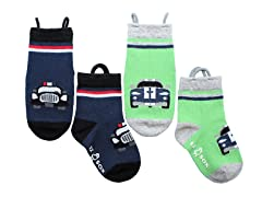 2-Pk Socks - Cars (S-L)
