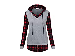 Faddare Ladies Hooded Flannel Shirt