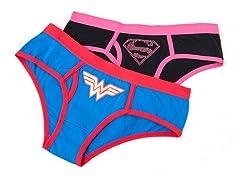 Wonder Woman & Superman Boy Brief 2-Pack