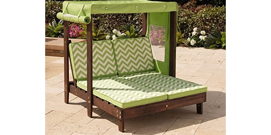 KidKraft Outdoor Double Chaise Lounge with Canopy Kids & Toys