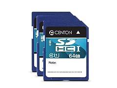 Centon Class 10 SD Cards - 3 Pack