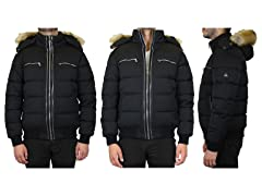 Men's Heavyweight Zip Parka W Detachable Hood