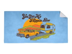 """You Got Me Trippin, Boo"" Beach Towel"