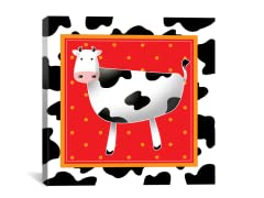 Happy Black and White Cow