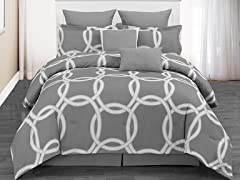 Redington Hotel 8pc Comforter Set- Silver