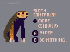 Sloth Video Game Controls