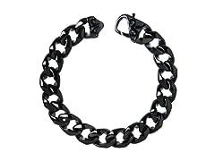 Steel Wedge Curb Link Bracelet