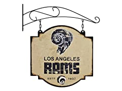 Los Angeles Rams Vintage Tavern Sign