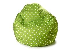 Junior Teardrop Beanbag - Lime Dot