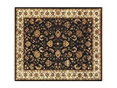 Izmir Collection Rug Black/Ivory
