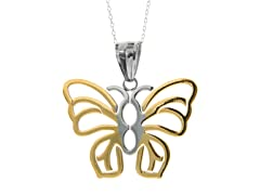 2-Tone Butterfly Necklace
