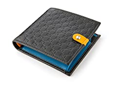 Gucci Men's Jolly Wallet, Blk/Blu/Orange
