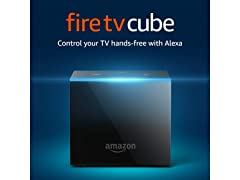 Amazon Fire TV Cube Media Player with 2nd Gen Alexa Voice Remote