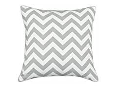 Zig Zag Ash 26x26 Floor Pillow