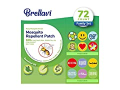 Brellavi 72 Count Mosquito Repellent Patches